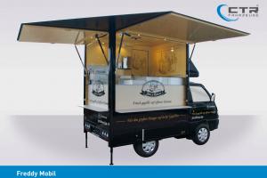 Модель кофе прицепа Piaggio Porter